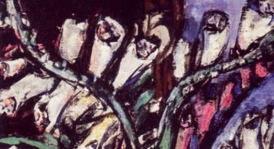 Max Beckmann (1884-1950) Stillleben mit Fingerhut, 1943 Öl auf Leinwand, 91 x 43 cm Beck & Eggeling International Fine Art, Düsseldorf © VG Bild-Kunst, Bonn 2014