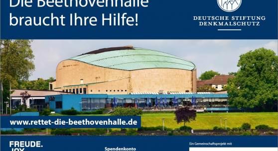 Die Beethovenhalle in Bonn auf einem Werbeplakat © DSD