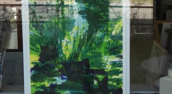 Ausstellung Grün kommt zu Ihnen nach Hause: Bild Nr. 1 steht im Schaufenster