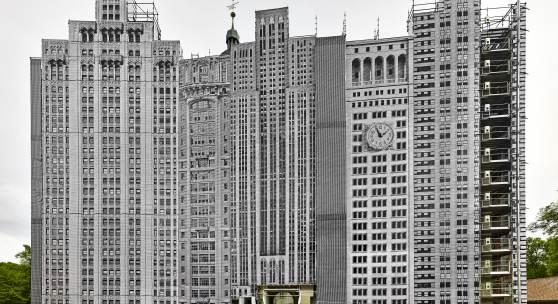 Bettina Pousttchi, The City, 2014, Fotoinstallation, Schloss Wolfsburg, 3500 x 7750 cm, Courtesy Buchmann Galerie und die Künstlerin, Foto: Norbert Miguletz