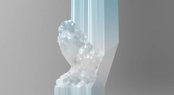 Plasticity, 3D printed sculpture by Niccolo Casas in Parley Ocean Plastic®