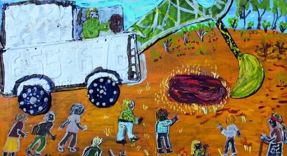 Eunice Porter, Mining in Jameson, 2015 © Warakurna Artists | ARTKELCH
