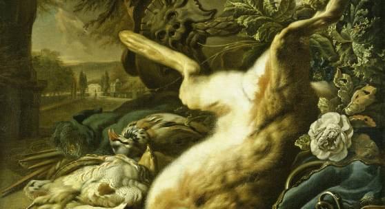 Jan Weenix (1640-1719): Jagdstillleben mit erlegtem Hasen, Hamburger Kunsthalle © bpk, Hamburger Kunsthalle, Foto: Elke Walford