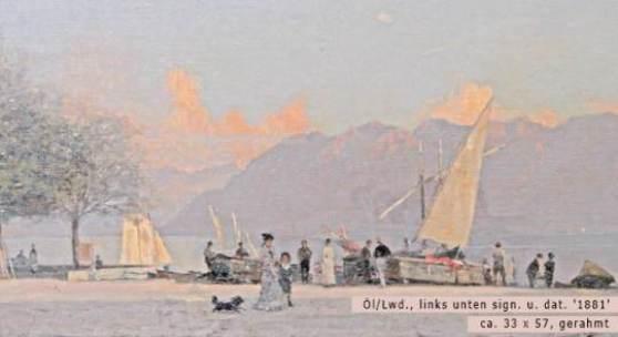 BOCION, FRANCOIS (1828 - 1890): Uferpartie am Genfer See. Aufrufpreis: 8.500,00 €