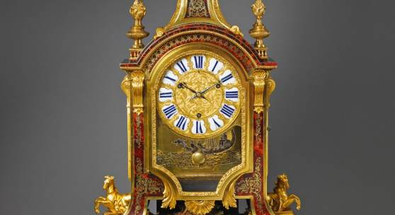 Nr. 351 481 Hochbedeutende Prunkuhr à baromêtre nach André Charles Boulle Paris, erste Hälfte 18. Jh. H 114 cm Schätzpreis: € 270.000 – 300.000,-