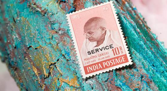 Los 1434: Indien 1948, Dienstmarke 10 Rupien, mit Service-Aufdruck.