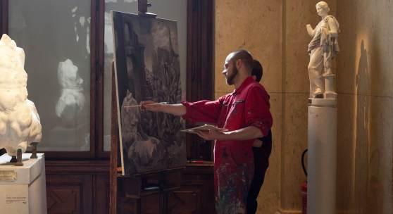 Jeremias Altmann und Andreas Tanzer In der Antikensammlung © Foto: Barbara Herbst
