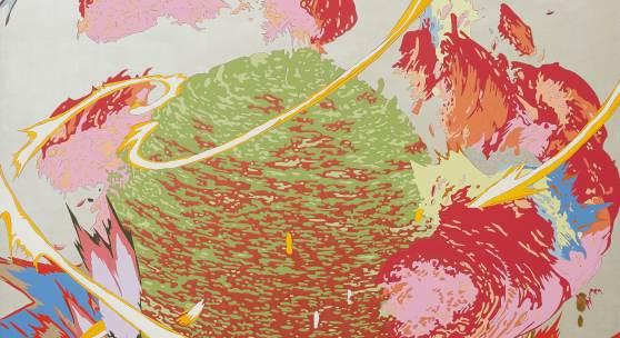 Lot 44 Nr. 389 712 Fernanda Brunet A-WBO! 2009 Acryl auf Leinwand, 190 x 180 cm Schätzpreis: € 2.000 – 3.000,-