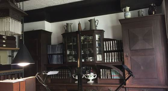 Innenraum der Von Parish Kostümbibliothek in München * Foto: Deutsche Stiftung Denkmalschutz/Schabe