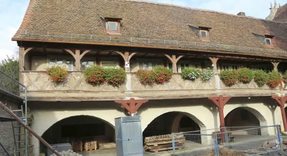 Arkadenbau des Spitals in Ochsenfurt © Deutsche Stiftung Denkmalschutz/Schabe