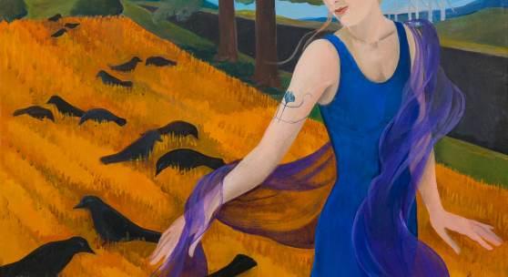 Brigitte Trieb, Zeit der Ernte, 2016  100 x 100 cm