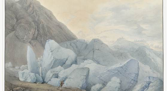 Jakob Gauermann, Gurgler Ferner, um 1801–1805 Feder in Braun und Aquarell auf Papier   © TLM