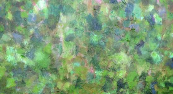 Bild 18: Carla Chlebarov, Green Woods, Acryl auf Nessel, 2020, 100&100 cm.1.500 €