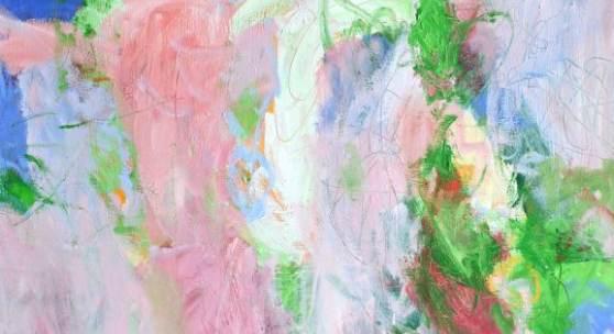 Bild 9: Carla Chlebarov, Vanilla, Öl auf Jute, 2013; 110&130 cm. 2.500 €