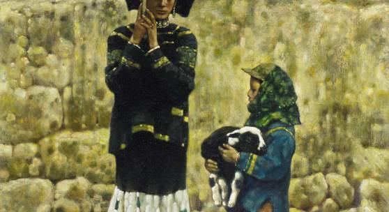 Cheng Conglin (1954) Ein Regentag im Frühling | 1990 | Öl auf Leinwand