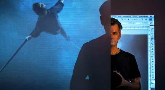 Christoph Brech in seiner Münchener Videowerkstatt Foto: Wolfgang Pulfer