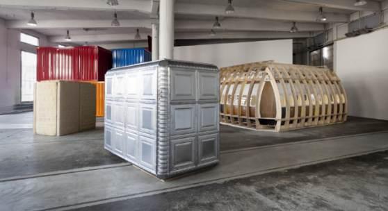 Citta irreale, Installationsansicht, Lokremise St. Gallen, Foto: Sebastian Stadler