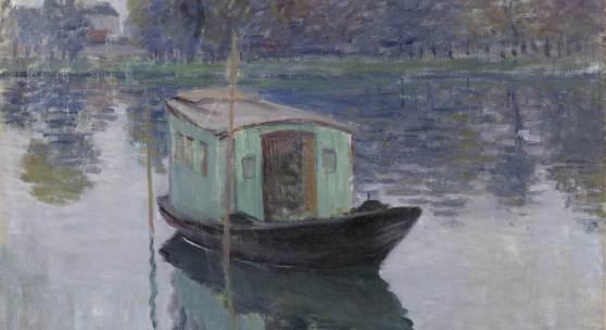 Claude Monet Das Atelierboot, 1874 Öl auf Leinwand © Collection Kröller-Müller Museum, Otterlo