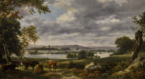 John Constable, R.A. (1776 – 1837) Dedham Vale with the River Stour In flood from the grounds of Old Hall, East Bergholt oil on canvas 51 x 91.5 cm.; 20⅛ x 36 in. Est. £2-3 million