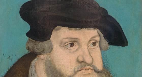 3007 LUCAS CRANACH D. Ä. UND WERKSTATT Bildnis des sächsischen Kurfürsten Friedrich der Weise. 1525. Öl auf Buchenholz. 38,7 x 25,3 cm. Ergebnis: CHF 264 000