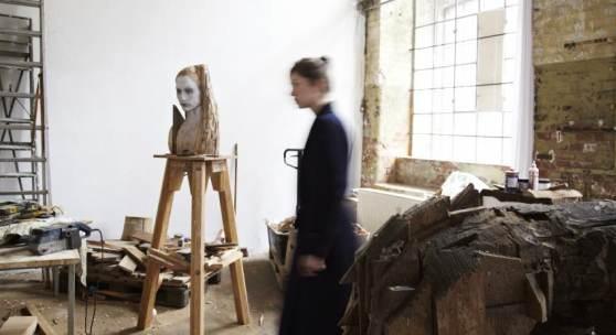 Atelier mit Skulpturen von Laura Eckert, Foto: Tom Dachs Atelier mit Skulpturen von Laura Eckert, Foto: Tom Dachs