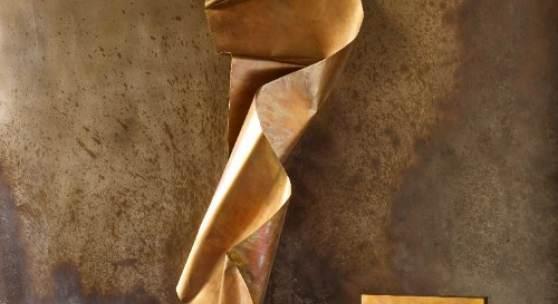 Crunch - Wall Series & Sturdy Brass Chair, Martha Sturdy. Courtesy Raeff Miles