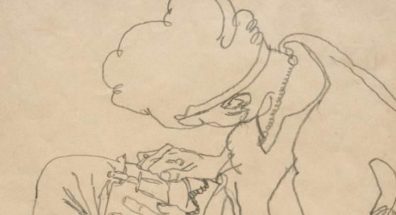 """02. Egon Schiele,  """"Sitzende Frau"""", 1916, Bleistift auf Papier, 45,2 x 28,8 cm Bild: W & K - Wienerroither & Kohlbacher"""
