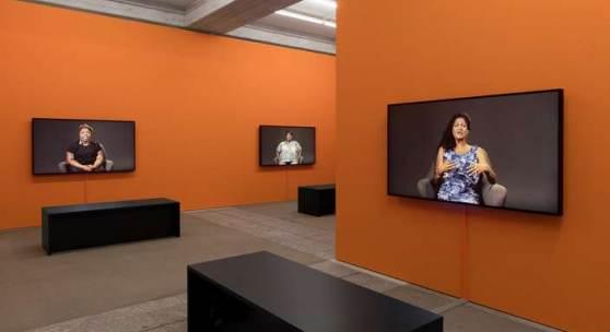 Candice Breitz TLDR 2017 Installationsansicht StGallen Foto Sebastian Stadler