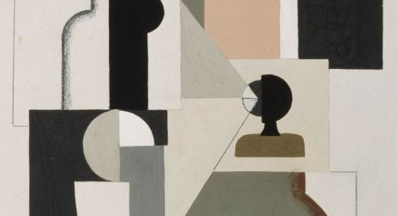 Willi Baumeister, Bild T 21 (Detail), 1922 © Staatliche Museen zu Berlin, Kupferstichkabinett / Reinhard Saczewski