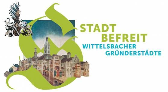 """Flyer zur Ausstellung """"Stadt befreit. Wittelsbacher Gründerstädte"""""""