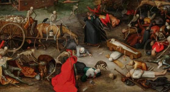 Jan Brueghel der Ältere (1568 – 1625), Triumph des Todes, dat. 1597, Öl auf Leinwand, Alte Galerie, Schloss Eggenberg, Foto: UMJ/N. Lackner