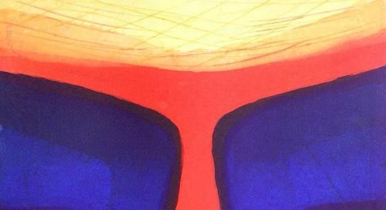 Glutkelch, Farbradierung 32 x 39 cm (Papierformat 68 x 54 cm),