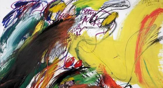 """Ménage à trois II"", 1972, Mischtechnik auf Leinwand, 205 x 180 cm"