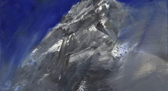 Herbert Brandl, Ohne Titel, 2008, Foto: Christian Schindler, Sammlung Angermair