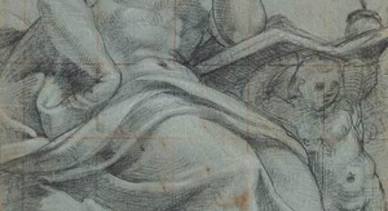 Lattanzio Gambara Brescia um 1530 – 1574 Brescia Sitzender Prophet, um 1567/71 Zeichnung Museum Kunstpalast, Sammlung der Kunstakademie Düsseldorf (NRW) Inv. Nr. KA (FP) 1618