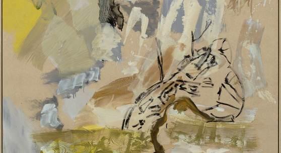 Ohne Titel, 2012, Mischtechnik auf Masonit, 122 x 122 cm