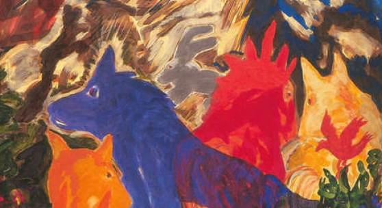 Alfred Klinkan, Ohne Titel (Aus der Sommerserie), 1983, Öl auf Leinwand, Foto: J. Koinegg/Neue Galerie Graz