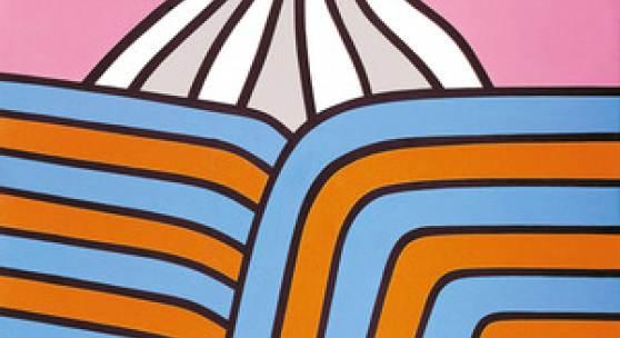 Nicholas Krushenick, ohne Titel, 1966, Acryl auf Leinwand, 167 × 137 cm, Museum Kunstpalast, Düsseldorf, Stiftung Sammlung Kemp, 2011, Foto: Horst Kolberg © Nachlass des Künstlers