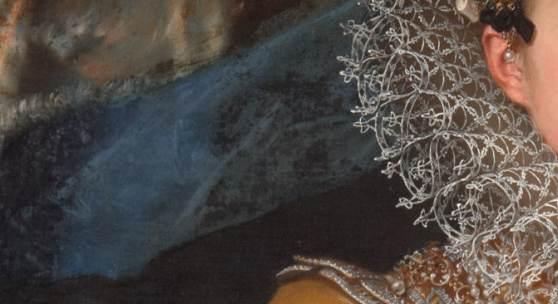 (Detail) Erzherzogin Maria Magdalena (1589–1631). Frans Pourbus D. J., Um 1603/1604 Kunsthistorisches Museum Wien, Gemäldegalerie, Inv.-Nr. 3385  (Schloss Ambras Innsbruck)