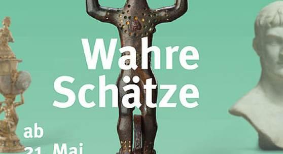 """Key Visual der Sonderausstellung """"Wahre Schätze. Antike • Kelten • Kunstkammer (c) Landesmuseum Württemberg"""