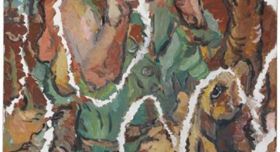 Georg Baselitz, Ein Grüner zerrissen, 1967, Öl auf Leinwand, 131,5 x 162 cm, Staatsgalerie Stuttgart, © Georg Baselitz 2018