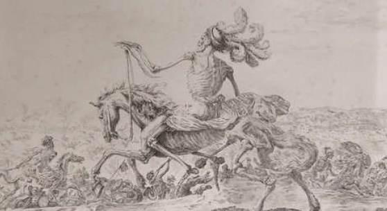 """Stefano della Bella (1610 – 1664), """"Der große Tod"""", Radierung, Foto: Universalmuseum Joanneum/N. Lackner"""