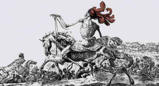 """Stefano della Bella (1610–1664), """"Der große Tod"""", Alte Galerie, Schloss Eggenberg, © N. Lackner/UMJ"""