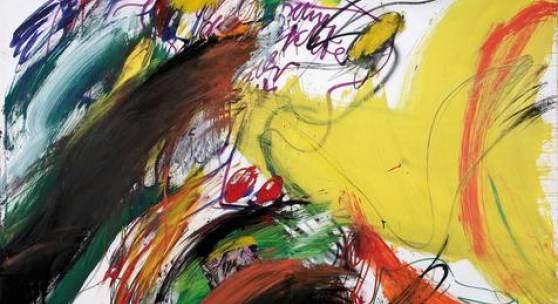 Walter Stöhrer, Dem Zufall ausgesetzt oder: Die Quersumme der Gesichter will ihr Ergebnis II,  1982, Mischtechnik auf Leinwand, 200 x 255 cm