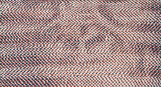 Andreas Lau: faces (monkey), 2018, Eitempera auf Nessel, 80 x 60 cm