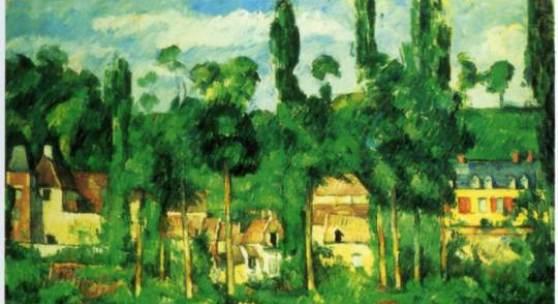 "Cezanne, Paul  Chateau de Medan Impressionismus   Das Gemälde ""Chateau de Medan"" von Paul Cezanne als hochwertige, handgemalte Ölgemälde-Replikation. Originalformat: 58 x 72 cm. Quelle: www.oel-bild.de."