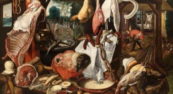 Pieter Aertsen, The Meatstall, 1551-1555 Bonnefantenmuseum, Maastricht, Deftig Barock – Von Cattelan bis Zurbarán 1. Juni - 26. August 2012