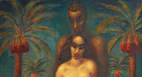 Mahmoud Saïd depicts the Quranic icons, Adam and Eve, estimate of £300,000-500,000.