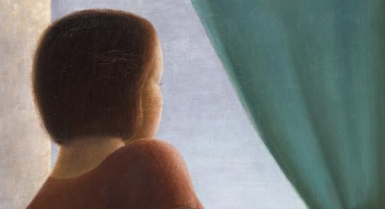 Georg Schrimpf (1889 – 1938)  Mädchen am Fenster | 1935 Öl auf Leinwand | 70,2x52,5cm Ergebnis: 251.000 Euro