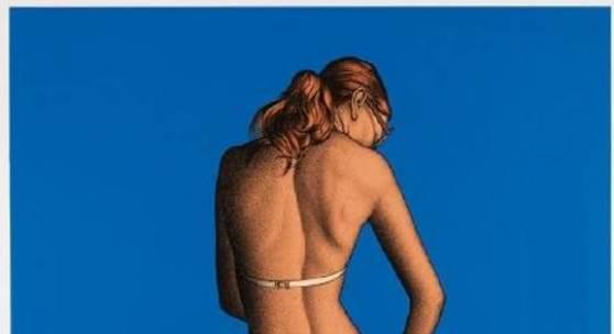 Dieter Asmus - Mädchen am Meer Farbserigrafie. 1973. 55 x 76 cm (21.6 x 29.9 in). Papier: 65 x 85,3 cm (25.6 x 33.6 in)